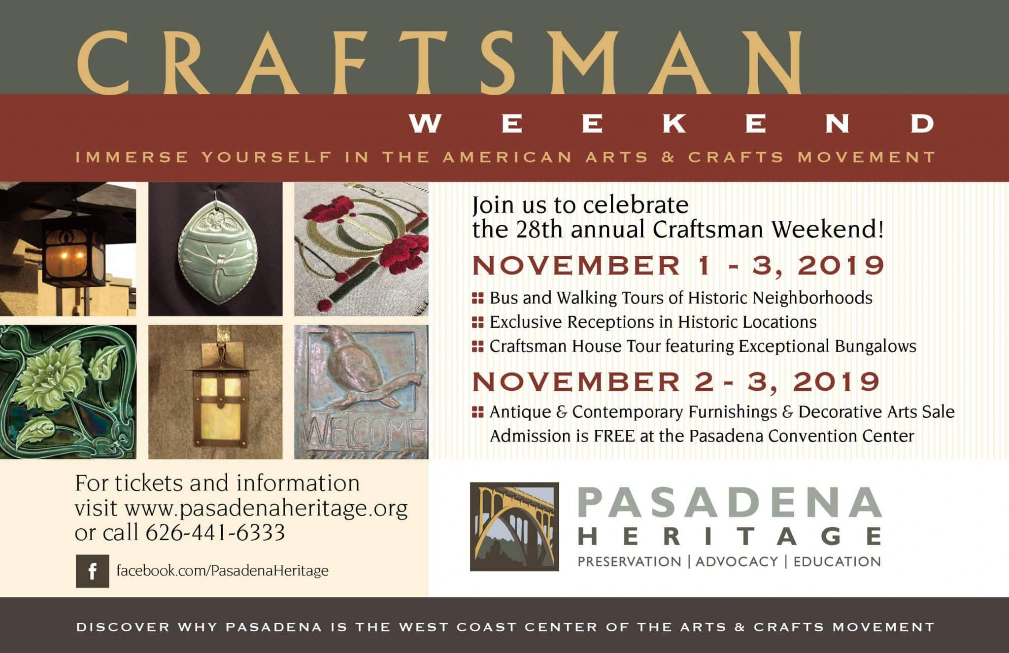Craftsman Weekend 2019